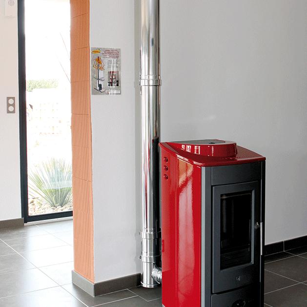 PGI Pellet - Concentric flue system for pellet stoves